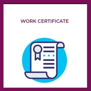 work certificates