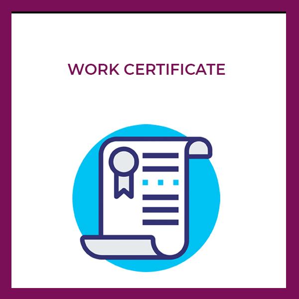work certificate